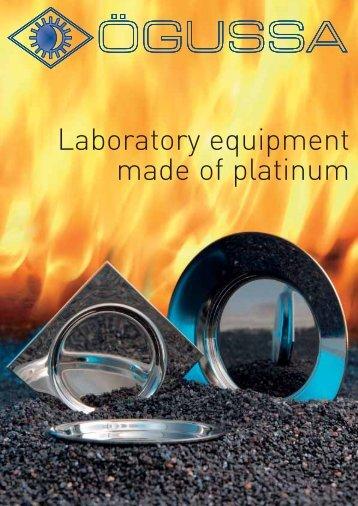 Laboratory equipment made of platinum - ÖGUSSA Österreichische ...