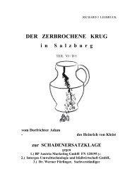 der zerbrochene Krug in Salzburg VI/ D 1 - vom ... - Leeb Oel