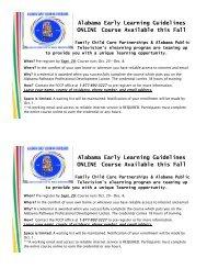 Alabama Early Learning Guidelines ONLINE ... - Auburn University