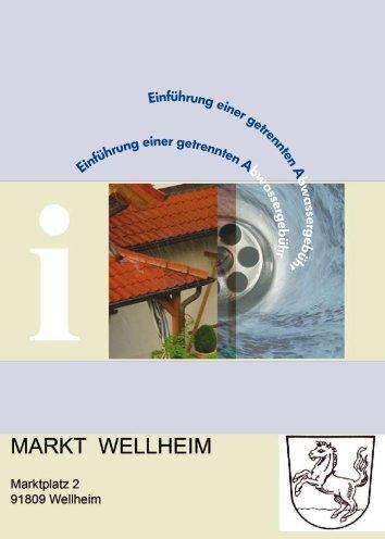 Informationsblatt zur getrennten Abwassergebühr - Markt Wellheim
