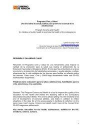 Programa Cine y Salud - Gabinete de Comunicación y Educación