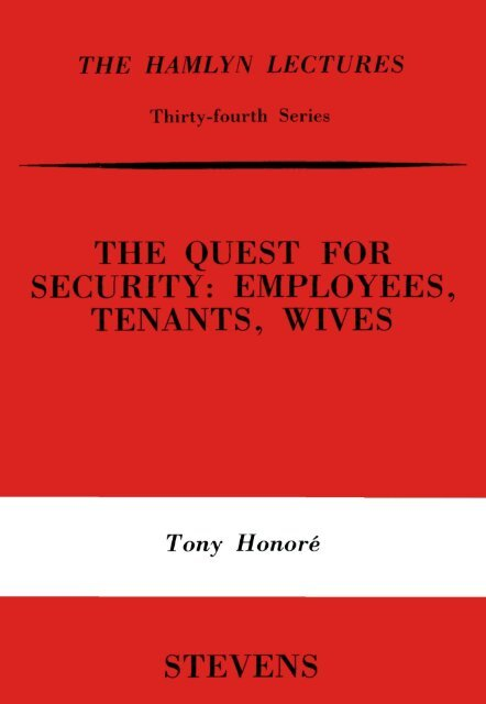 the quest for security - College of Social Sciences and International ...