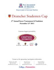 Tournament Fact Sheet - University of Arizona