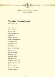Warsteiner Champions Trophy - Warsteiner Reitsport