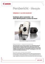 Download het lifestyle persbericht [PDF, 109 KB] - Canon