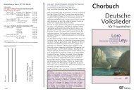 Chorbuch Lore-Ley für Frauenchor - Carus-Verlag