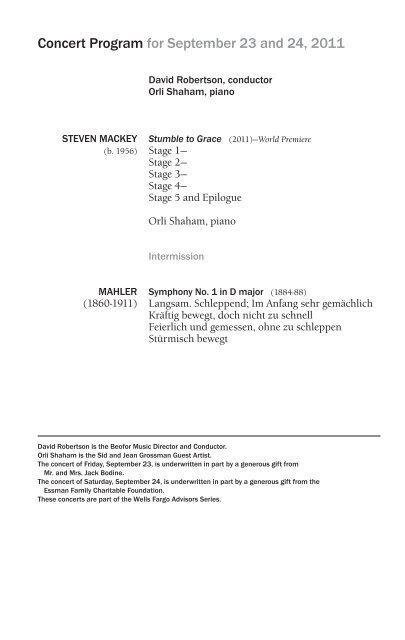 Mahler 1 -- Sep  23-24, 2011 - St  Louis Symphony