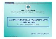IMPIANTI DI SOLLEVAMENTO CON CASSA D'ARIA - Water Solutions