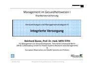 Integrierte Versorgung - Wirtschaft und Management