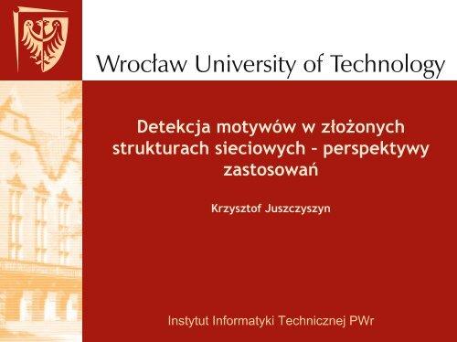 network motifs - Instytut Informatyki