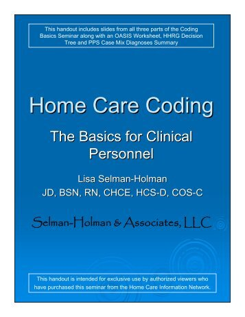 Home Care Coding - Home Care Information Network