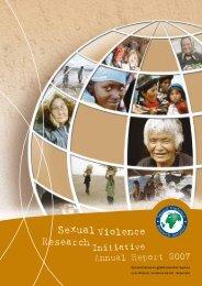 Sexual Violence Research Initiative Annual Report 2007