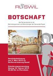 Botschaft Dorfkernerneuerung - Anzeiger vom Rottal