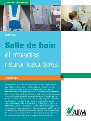 Salle de bain et maladies neuromusculaires