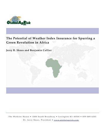 Spurring a Green Revolution in Africa - Munich Climate-Insurance ...