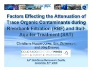 Factors Effecting the Attenuation of Trace Organic Contaminants ...