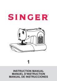 INSTRUCTION MANUAL MANUEL D'INSTRUCTION ... - Singer