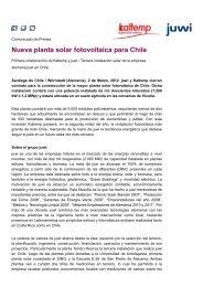 Nueva planta solar fotovoltaica para Chile - PHOTON International