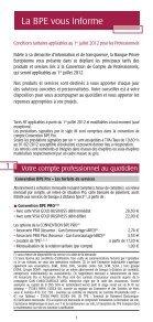 Les conditions tarifaires - BPE - Page 2