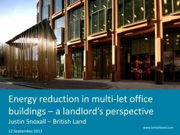 END USER CASE STUDY - British Land - The Energy Event