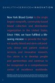 REPORT T O OUR COMMUNITIES - New York Blood Center - Page 4