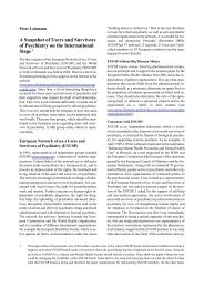 A Snapshot of Users and Survivors of Psychiatry on the International ...