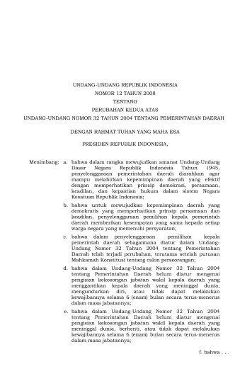 Undang-Undang Nomor 12 Tahun 2008
