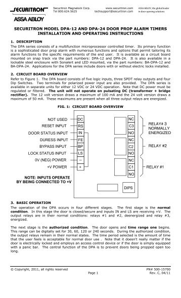 dpa series installation instructions securitron magnalock ?quality\=85 securitron mm15 wiring diagram \u2022 indy500 co securitron mm15 wiring diagram at panicattacktreatment.co