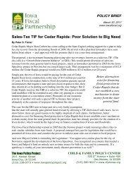 Sales-Tax TIF for Cedar Rapids - Iowa Fiscal Partnership