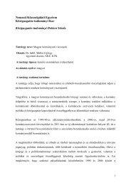 Dr. habil. Müller György: Magyar kormányzati viszonyok