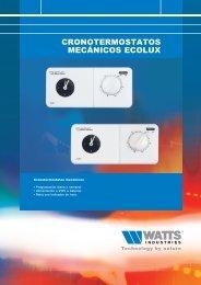 cronotermostatos mecánicos ecolux - Watts Industries