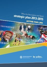 strategic plan 2013-2015 - Office for Recreation and Sport - SA.Gov.au