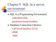 001 01 Embedded SQL, CLI, JDBC (PDF) - ODBMS