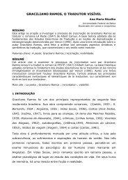 Graciliano Ramos, O Tradutor Visível - Universidade Federal da Bahia