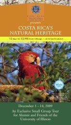 costa rica's natural heritage - University of Illinois Alumni Association