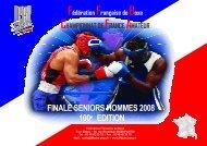 Brochure du CFA SH 2008 - Fédération Française de Boxe