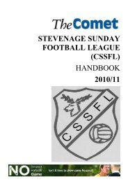 stevenage sunday football league (cssfl) handbook 2010/11