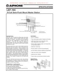 AIPHONE LEF-10C 10-Call Semi-Flush Mount Master Intercom Station