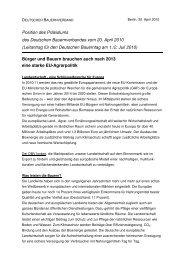 Positionspapier zur EU-Agrarpolitik - EurActiv.de