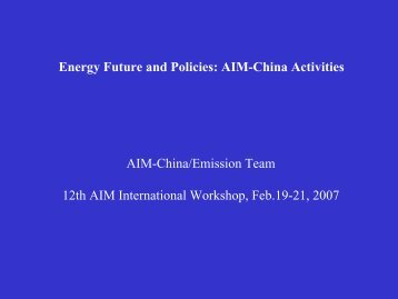 Energy Future and Policies