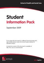 Student - HSC Home - University of the West of England