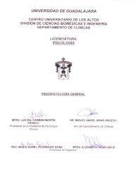 Psicopatologia General - Centro Universitario de los Altos