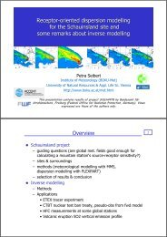 Receptor-oriented dispersion modelling for the Schauinsland site ...