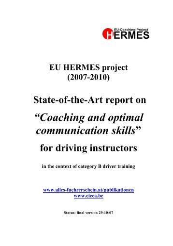 """Coaching and optimal communication skills"""