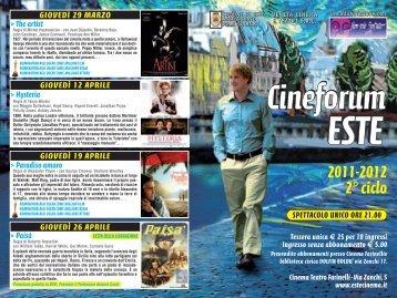 Prog Cineforum Este 2011_prog CINEFORUM - Autenticazione