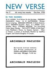 No 17 - Modernist Magazines Project