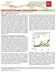 Wells Fargo FX ExpressTM – Currency Update - Mercenary Trader