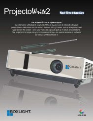The ProjectoWrite2 is a jaw-dropper. An ... - Projector Reviews