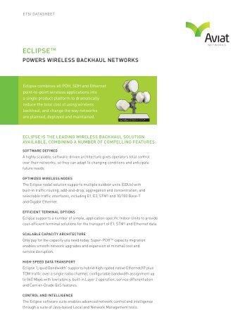 Aviat Eclipse Platform Data Sheet - Sigma Wireless