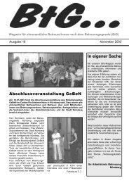 BtG... - GeBeN - Gesetzliche ehrenamtliche BetreuerInnen in Nürnberg